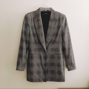 Zara Basics Glen Plaid Blazer Size Medium